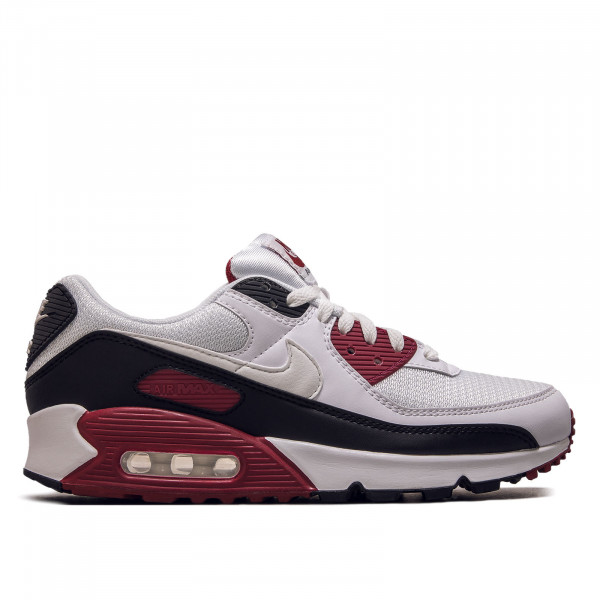 Herren Sneaker Air Max 90 White White New Maroon Black