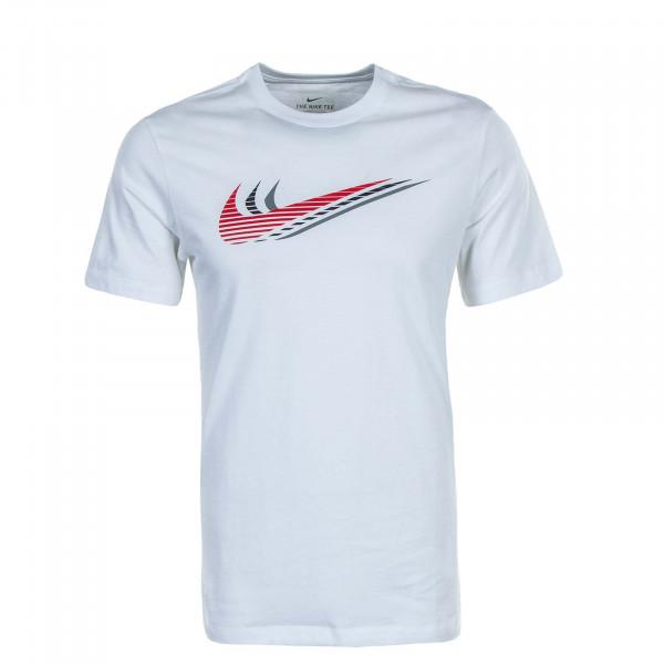 Herren T-Shirt Swoosh CK4278 White Red
