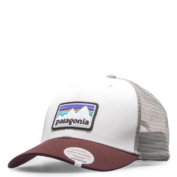 Patagonia Cap Sticker Patch Beige Bordo
