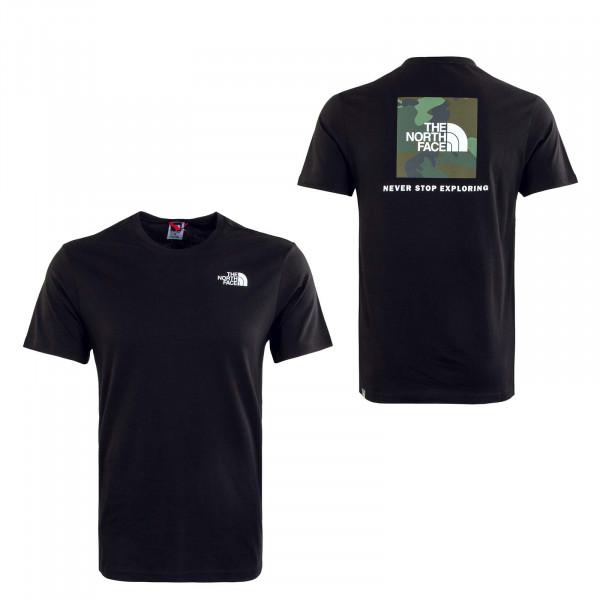 Herern T-Shirt - Redbox - Black / Thyme Brushwood Camouflage