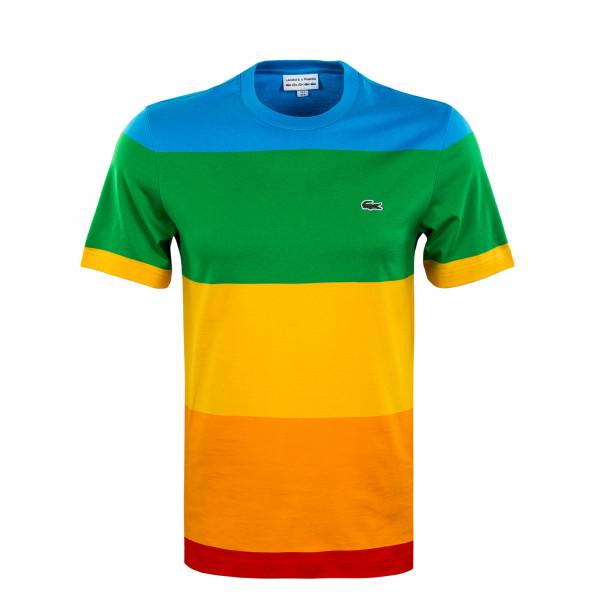 Herren T-Shirt - Lacoste x Polaroid - Blau / Grün / Gelb / Orange / Rot