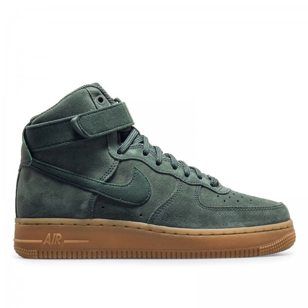 Nike Wmn Air Force 1 Hi SE Green Brown