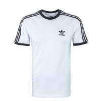 Bekleidung Herren T-Shirt - 3 Stripes - White / Black