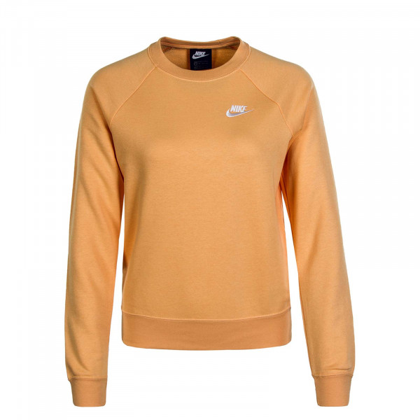 Damen Sweater Essential Crew Orange White