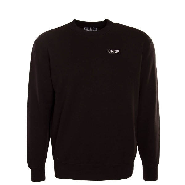 Crisp Sweat Embroidery Black