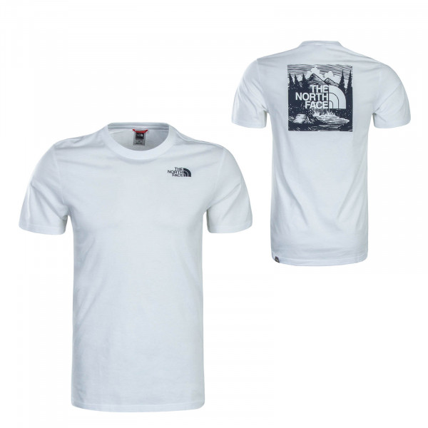 Herren T-Shirt Redbox Cel White Navy