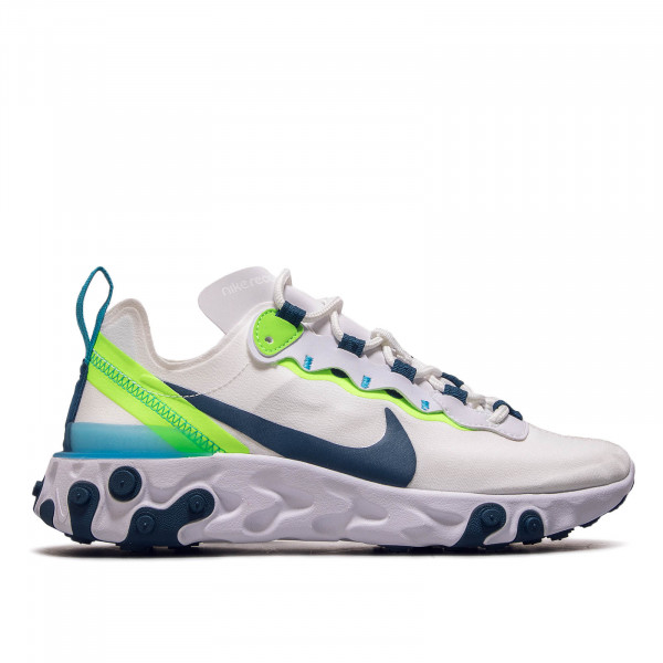 Damen Sneaker React Element 55 White Green Blue
