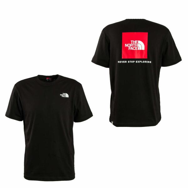 Herren T-Shirt Red Box Black