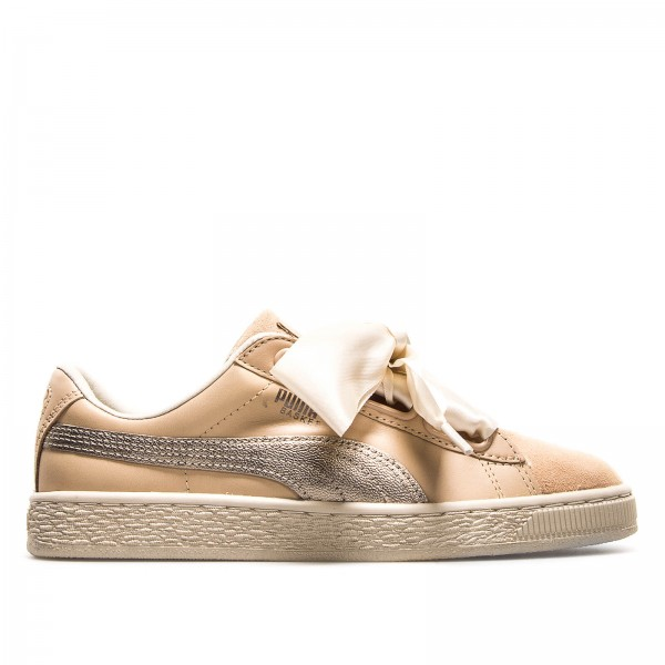 Puma Wmn Basket Heart Up Beige
