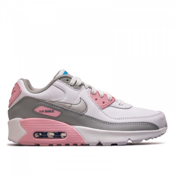 Damen Sneaker Air Max 90 Ltr GS White Smoke Grey Silver