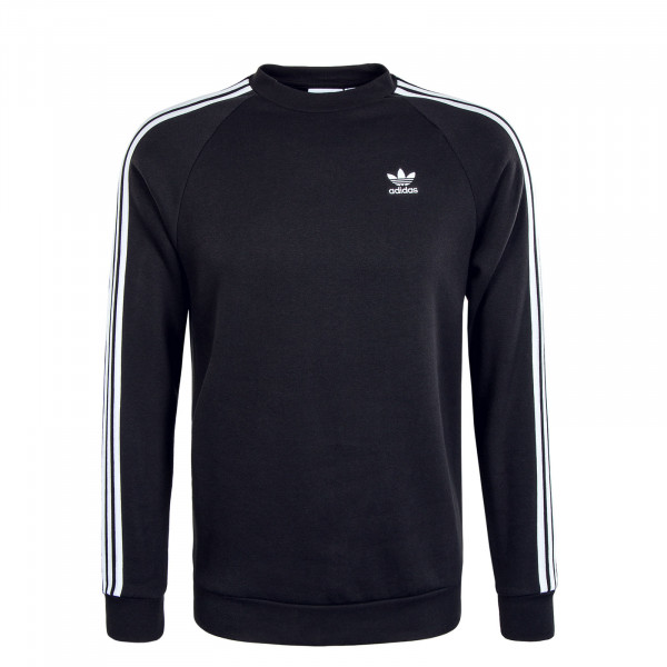 Herren Sweat - 3 Stripes Crewneck - Black / White