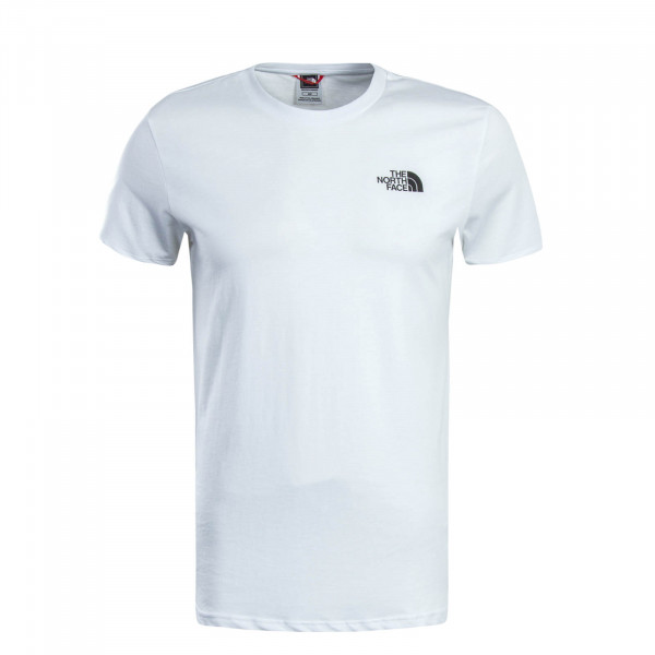 Herren T-Shirt Simple Dome White