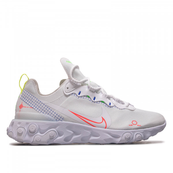 Herren Sneaker React Element 55 White Crimson Blue