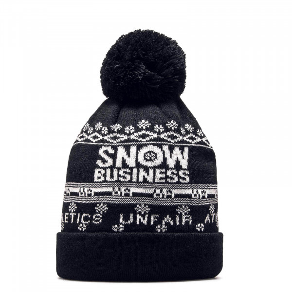 Unfair Beanie Snow Business Bobble Black