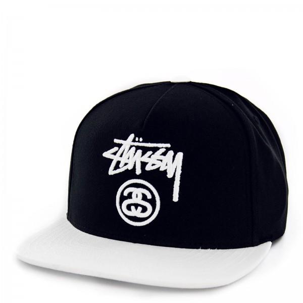 Stüssy Cap Stock Lock Black White