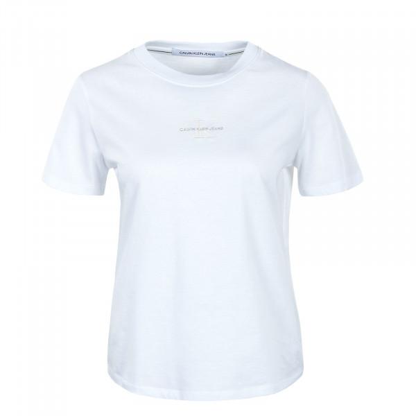 Damen T-Shirt - Monogram Logo Tee - Bright White