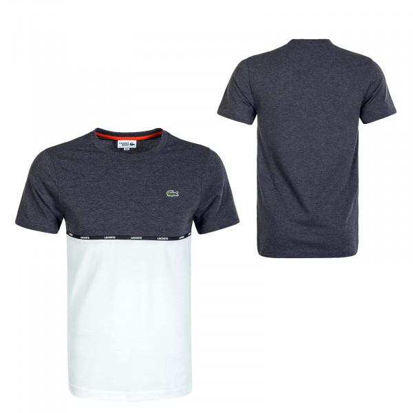 Herren T-Shirt 6257 Gris Chine White