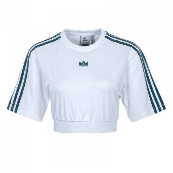 Damen T-Shirt - Cropped GT8474 - White / Green