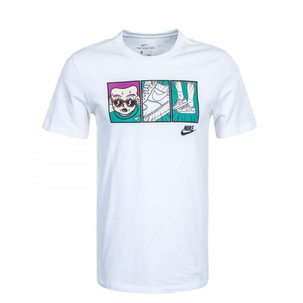 Herren T-Shirt Illustration Tee White Black
