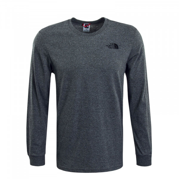 Herren Longsleeve Simple Dome Grey