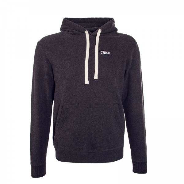 Crisp Hoody Embroidery Anthracite