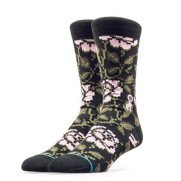 Stance Socks Sidestep Rosie Block Olive