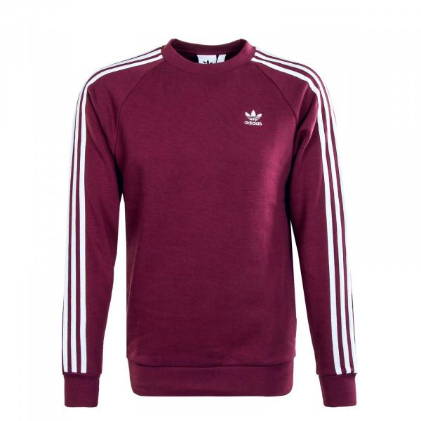Herren Sweatshirt - 3 Stripes Crew - Bordeaux