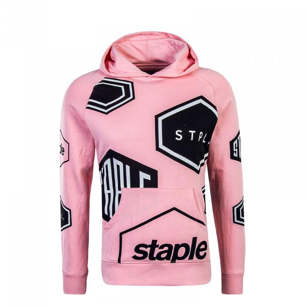 Staple Hoody Pigeon Geo Print Pink
