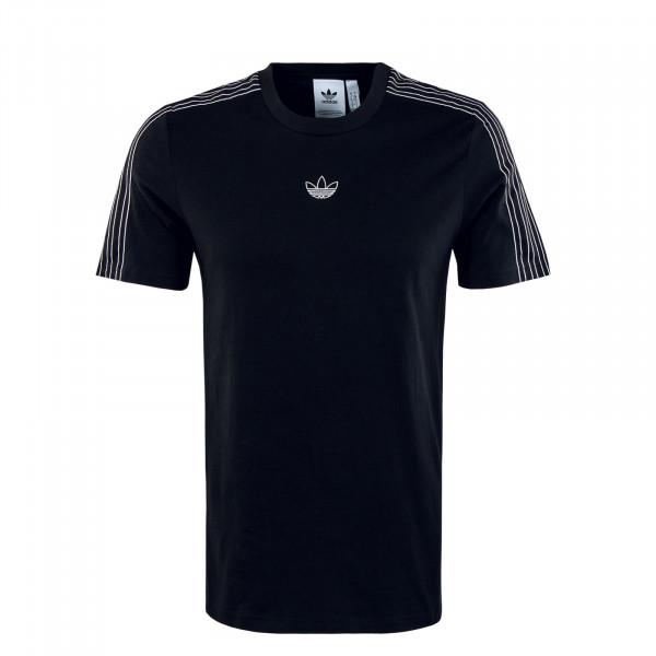 Herren T-Shirt - Sport 3 Stripe -  Black / White