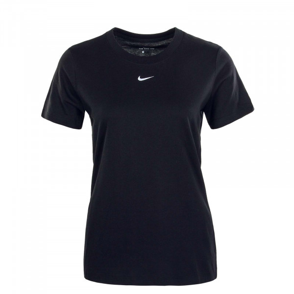 Damen T-Shirt Essential Crew Black White