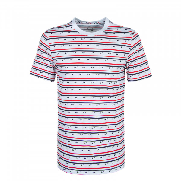 Herren T-Shirt Club Stripe CV9867 White Red