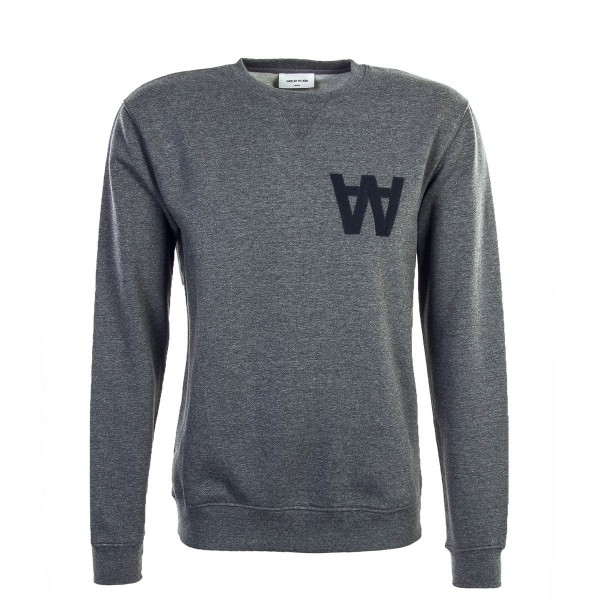 Wood Wood Sweat Houston Dk Grey Melange