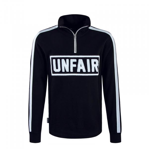 Herren Sweatshirt 095 Rip Halfzip Black White