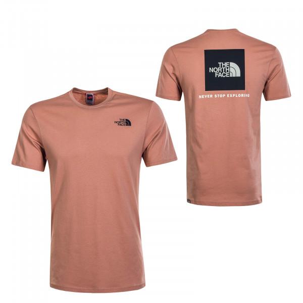 Herren T-Shirt Red Box Pink Clay