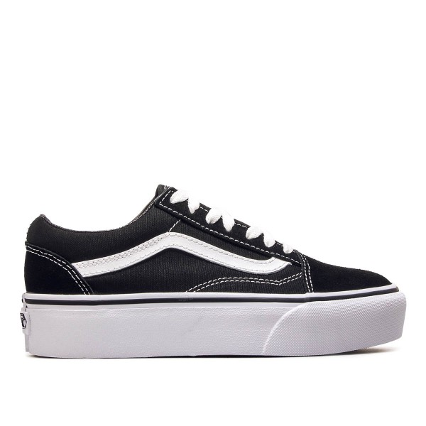 Vans Wmn Old Skool Platform Black White