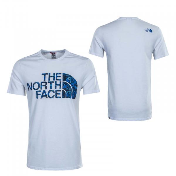 Herren T-Shirt Standard White Blue