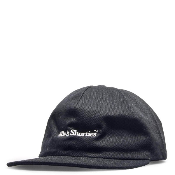 40s Shorties Cap Text Logo Black
