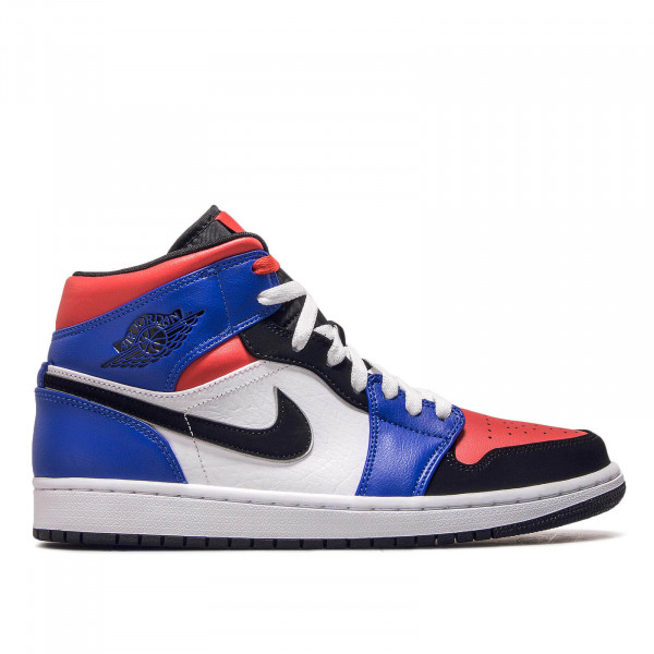 Nike Air Jordan 1 Mid White Blue Red