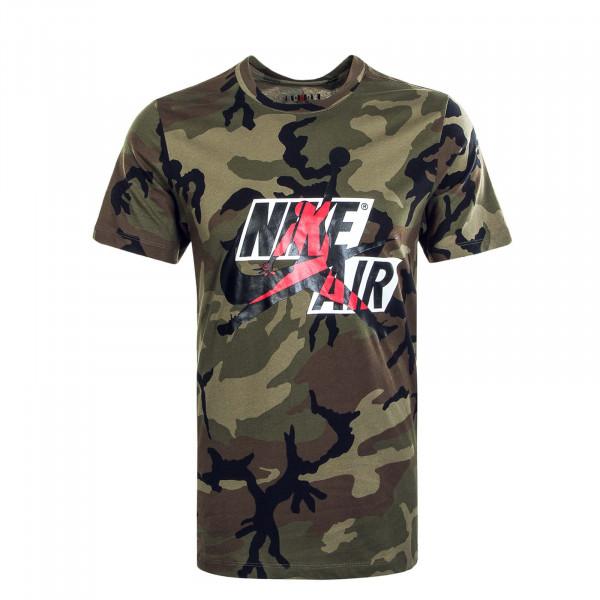 Herren T-Shirt JM CLSCS CU2072 Camouflage Olive Gym Red