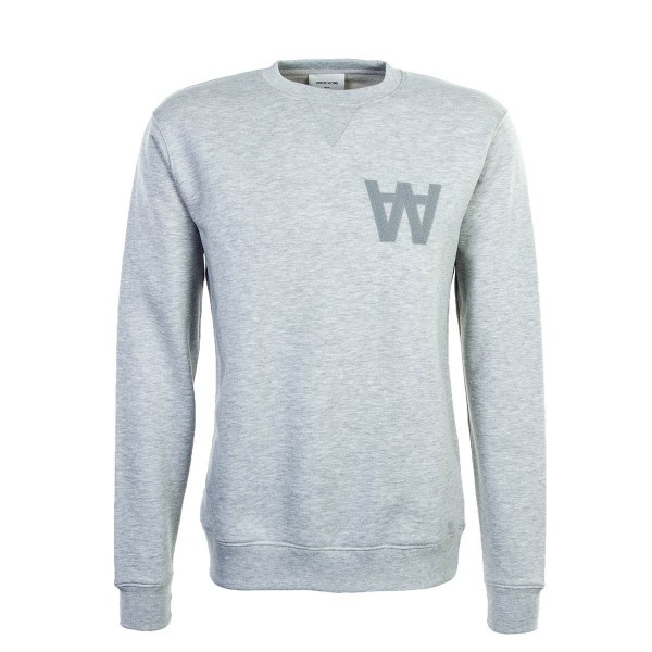 Wood Wood Sweat Houston Grey Melange