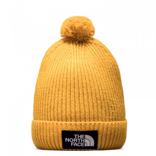 Beanie Logo Box Pom Summit Gold