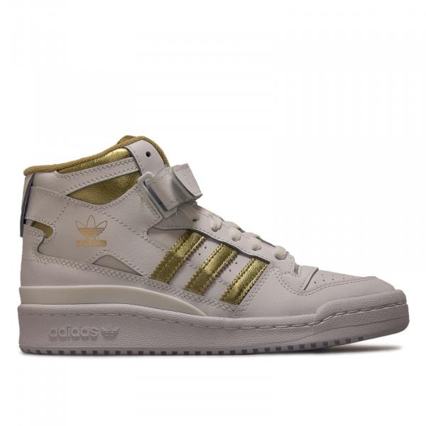 Damen Sneaker - Forum Mid - White / Gold / Beiton