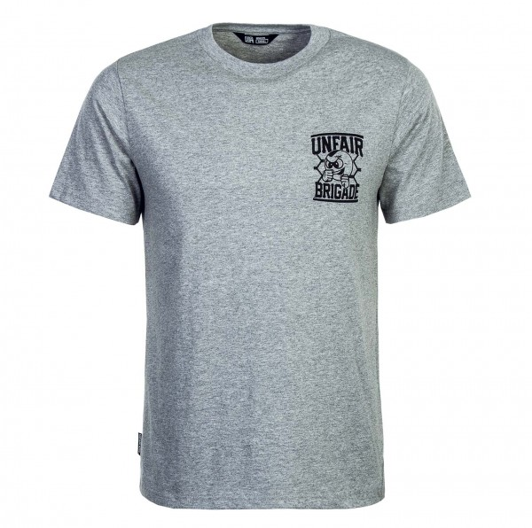 Unfair T-Shirt Brigade Grey Black