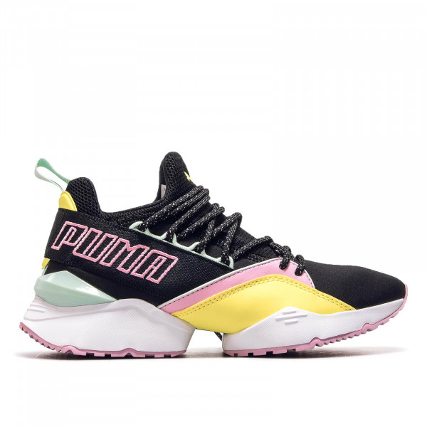 Puma Wmn Muse Maia Black Blazing Yellow